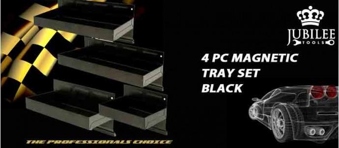 4PC MGNETIC TRAY SET BLACK