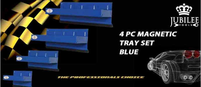 4PC MGNETIC TRAY SET BLUE