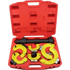 Interchangeable Coil Spring Compressor Set with Protective Yokes