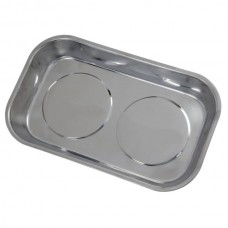 Double Magnetic Parts Tray 242 x 150 x 44mm Stainless Steel
