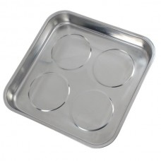 Quad Magnetic Parts Tray 280 x 300 x 45 Stainless Steel