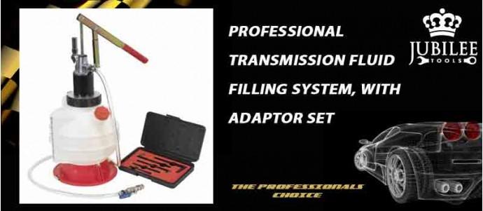 PROFESSIONAL TRANSMISSION FLUID FILLING SYSTEM WITH ADAPTOR SET
