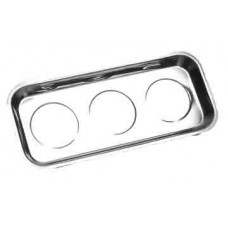 Triple Magnetic Parts Tray 367 X 168 X 45 Stainless Steel