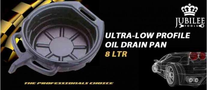 ULTRA-LOW PROFILE OIL DRAIN PAN 8 LTR